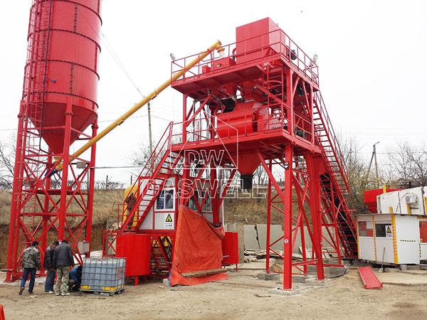 HZS60 batch plant Moldova