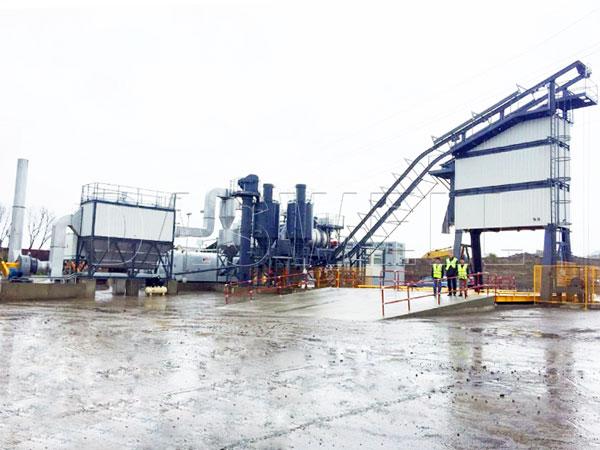 MAPY1000 mobile asphalt batch mix plant