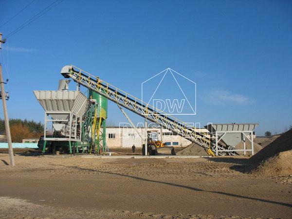 YHZS35 mini concrete plant in Russia