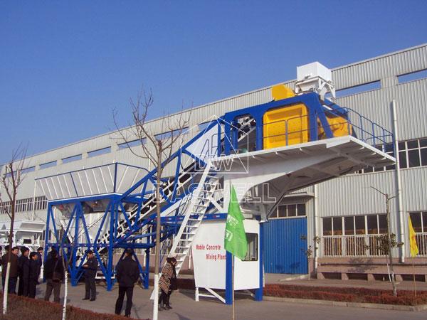 YHZS50 mobile mini concrete plant