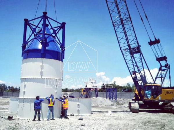 installation of cement silos of mini plant