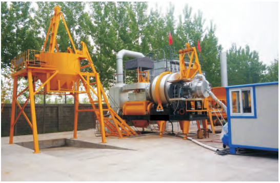 MADP drum mixing mobile plant