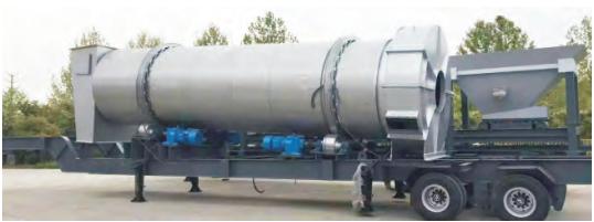 components of mobile asphalt batching mix plant