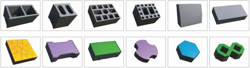 concrete block samples