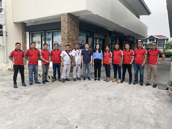 daswell machinery sales team in the Philippines