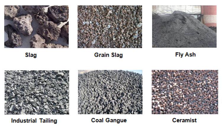 raw materials of brick machine