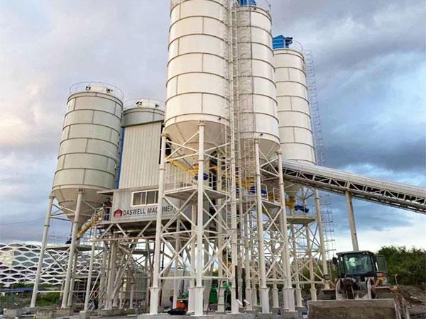 HZS180 automatic concrete plant