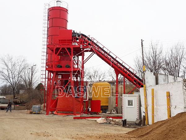 HZS60 automatic concrete mix plant