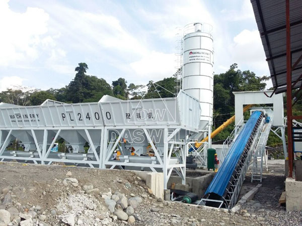 HZS90 concrete mix plant