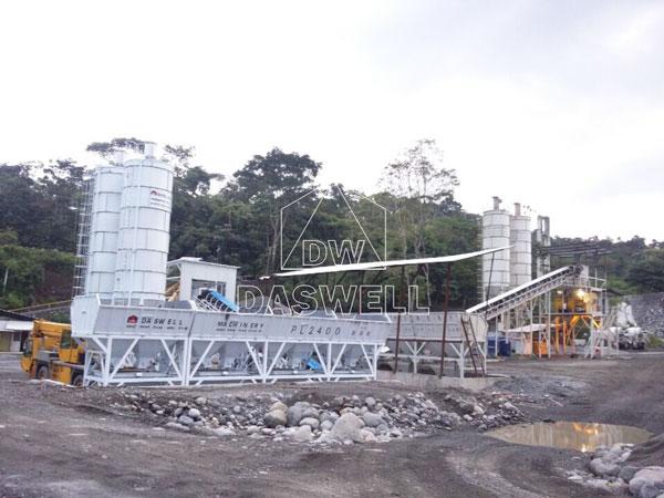 HZS90 concrete plant Ecuador