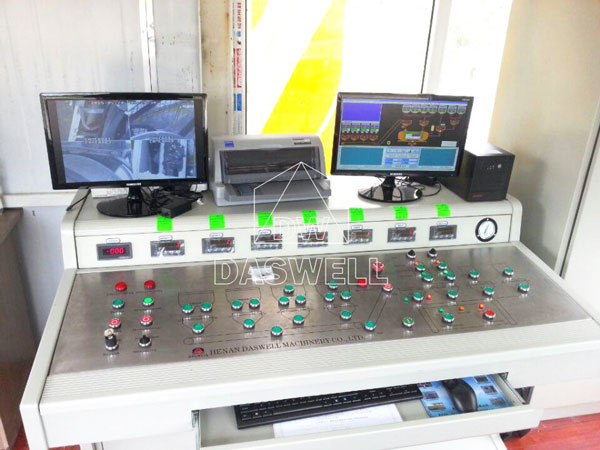 control system of HZS90 plant