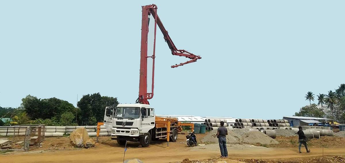 21m concrete pump boom