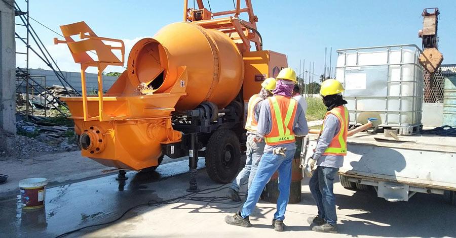 DHBT40 diesel concrete mixer pump