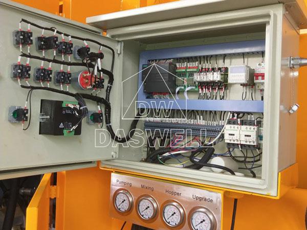 DHBT40 diesel concrete mixer with pump parts