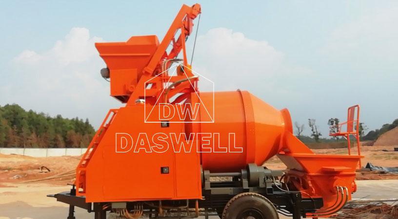 DHBT40 diesel concrete pump with mixer