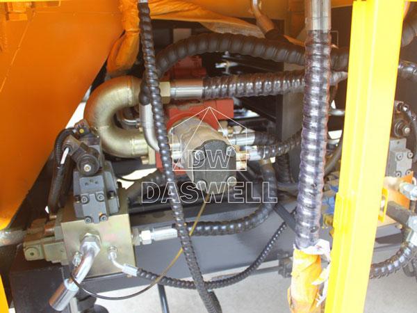 concrete mixer with pump component