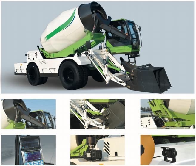 6.5m3 self loading cement truck