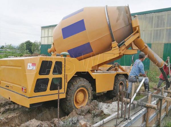yellow concrete machine