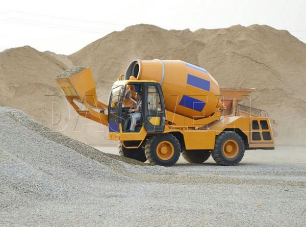 yellow truck machine