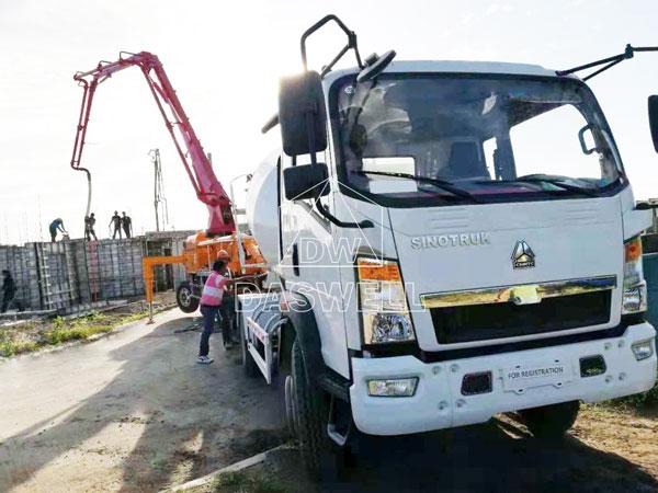 21m mobile concrete pump for sale