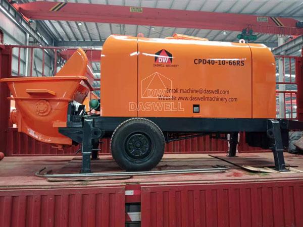 CPD40 diesel trailer pump
