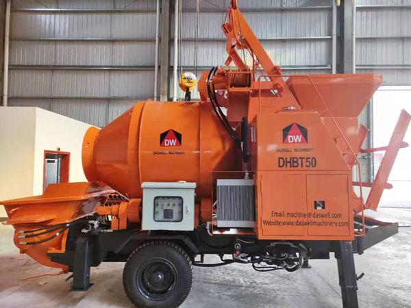 DHBT50 diesel concrete mixer pump