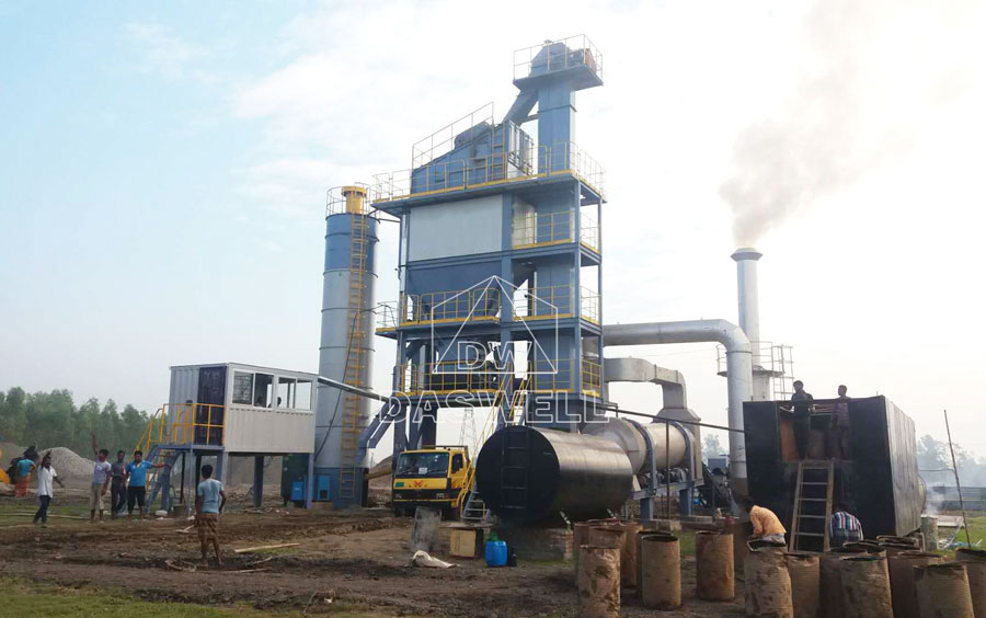 SAP2000 stationary asphalt mixing plant